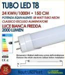 Tubo LED T8 150cm 24W 6000K 2000Lm Alimentazione diretta 230V # 27560185
