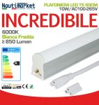 Tubo LED T5 60cm 10W 6000K Luce Bianca Fredda Satinato 850Lm #27560230