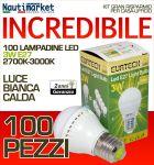 Kit da 100 Lampadine a LED E27 3W-230V Luce Calda - #27561202-100