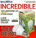 Kit da 100 Lampadine a LED E27 3W 230V 2700K-3000K - Codice: 27561202-100