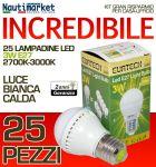 Kit da 25 Lampadine a LED E27 3W-230V Luce Calda - #27561202-25