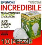 Kit da 10 Lampadine a LED E27 7W 230V 2700K-3000K - Codice: 27561211-10