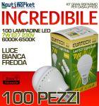 Kit da 100 Lampadine a LED E27 7W 230V 6000K-6500K - Codice: 27561212-100