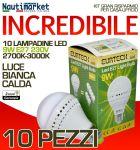 Set 10 Lampadine a LED E27 9W/230V Luce Bianca Calda - #27561213-10