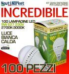 Set 100 Lampadine a LED E27 9W 230V 2700K-3000K - Codice: 27561213-100