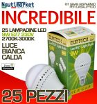 Set 25 Lampadine a LED E27 9W 230V 2700K-3000K - Codice: 27561213-25