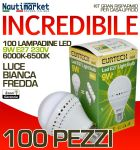 Set da 100 Lampadine a LED E27 9W 230V 6000K-6500K - Codice: 27561214-100