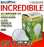 Set da 25 Lampadine a LED E27 9W 230V 6000K-6500K - Codice: 27561214-25