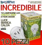 Kit da 10 Lampadine a LED E27 12W 230V 2700K-3000K - Codice: 27561216-10
