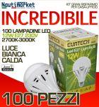 Kit da 100 Lampadine a LED E27 12W/230V Luce Bianca Calda - #27561216-100