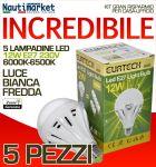 Kit da 5 Lampadine a LED E27 12W 230V 6000K-6500K - Codice: 27561217-5