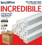 Kit 25 Tubi LED Attacco T5 - 120cm 16W230V 4500K Luce Naturale/Satinato ≥1600 Lm - Codice: 275KIT25X60210