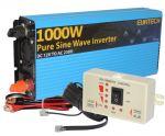 Kit Inverter Onda Pura 12V 230V 1000 - 2000W con Pannello di Controllo Remoto