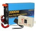 Kit Inverter Onda Pura 12V 230V 2000W 4000W con Pannello di Controllo Remoto