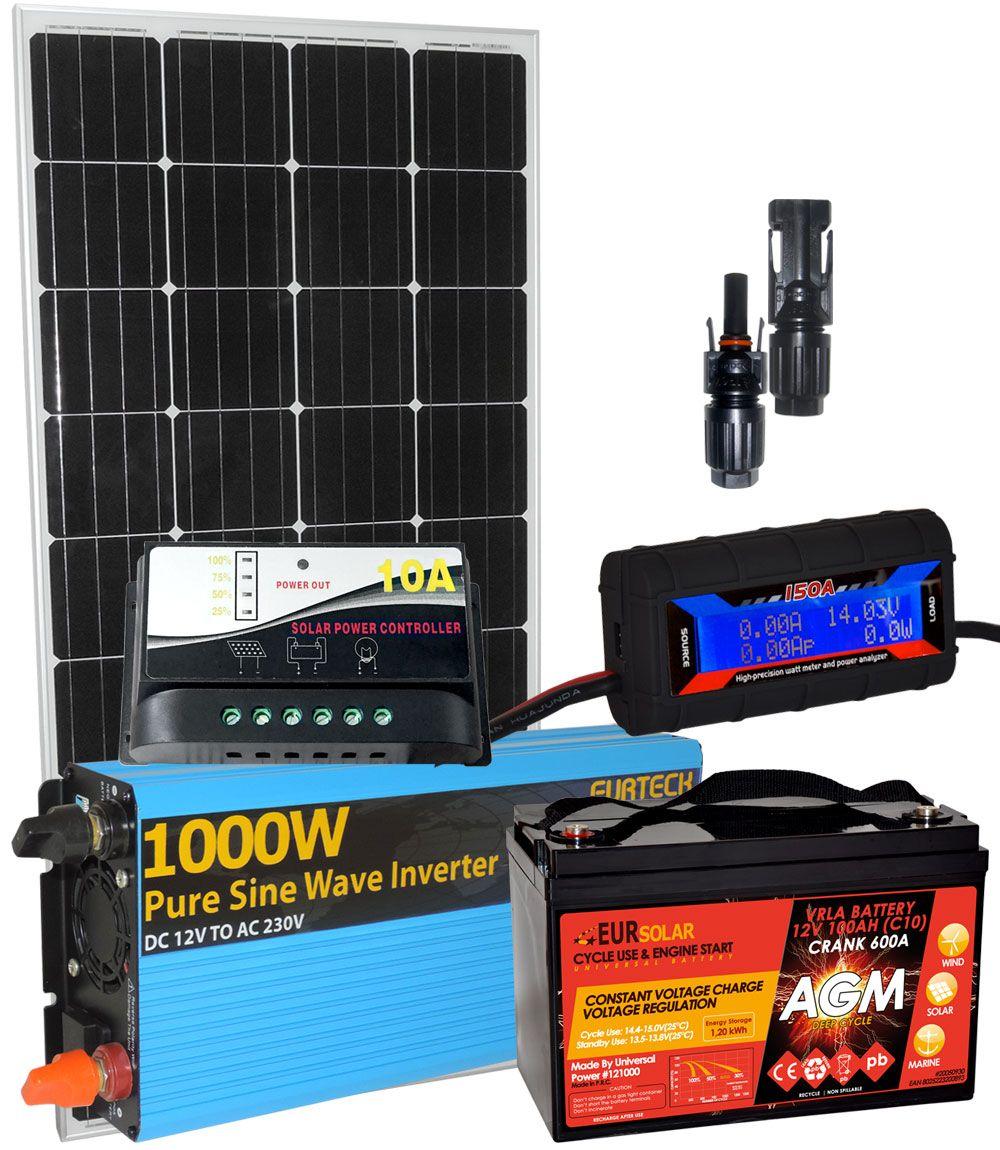 Pannello Solare Per Batteria 100 Ah : Pannello solare v w regolatore a batteria ah