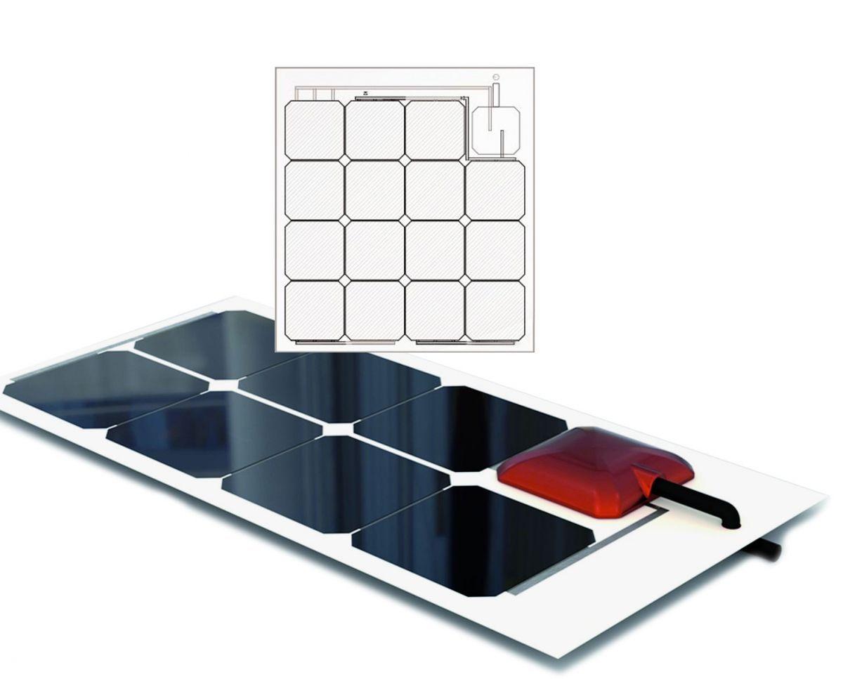 Regolatore Pannello Solare Artinya : Solbian sp allinone pannello solare flessibile w con