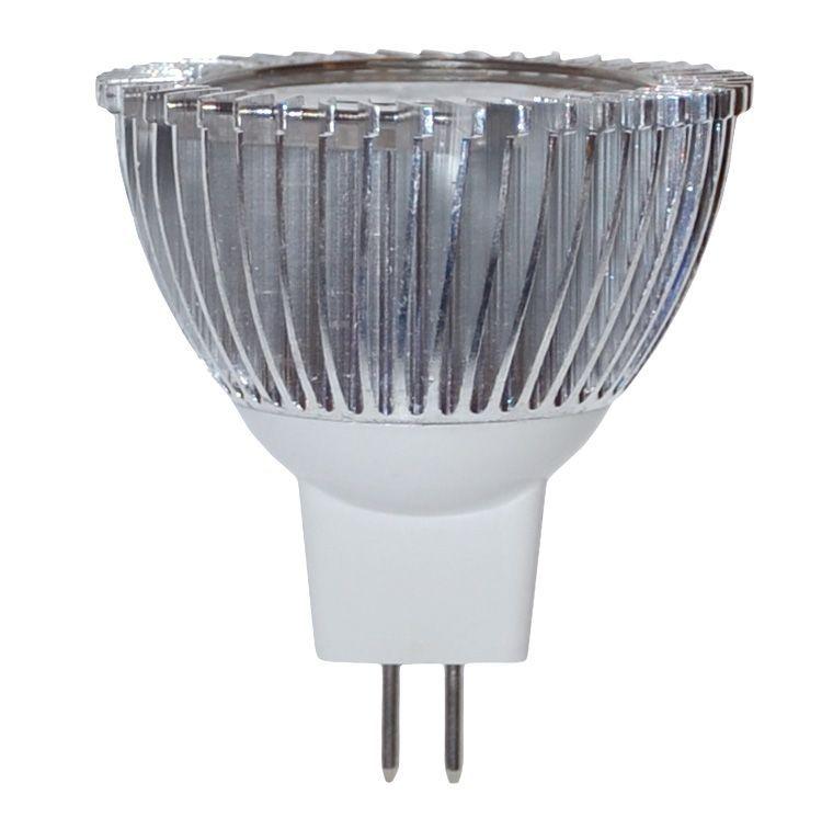 Lampadina a led 3w 12v attacco mr16 2700k luce bianca for Luce bianca led