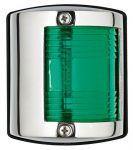 Luce di via in acc.inox - Luce verde (112,5°) - 64x58xH75mm - Codice: 25101901