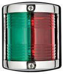 Luce di via in acc.inox - Luce verde-rossa (112,5°+112,5°) - 64x58xH75mm - Codice: 25101903