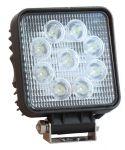 Proiettore a 9 LED 12-24V 27W Luce Bianca - Nero #25500155