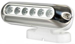 Faro 6 LED con Supporto Orientabile 30W/12-24V - Base Fissaggio 120x40mm - Codice: 25501182