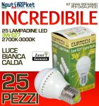Kit da 25 Lampadine a LED E27 3W 230V 2700K-3000K - Codice: 27561202-25