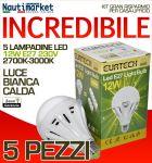 Kit da 5 Lampadine a LED E27 12W 230V 2700K-3000K - Codice: 27561216-5