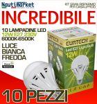 Kit da 10 Lampadine a LED E27 12W 230V 6000K-6500K - Codice: 27561217-10