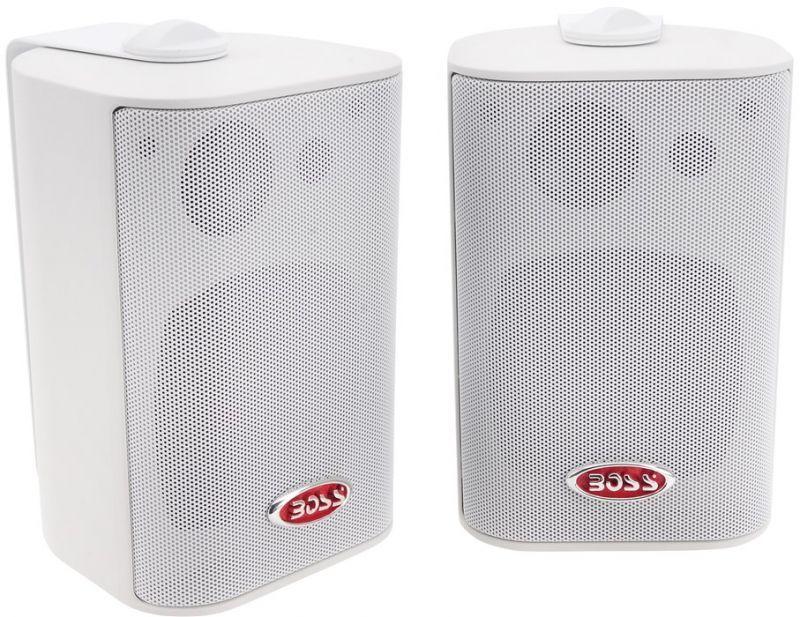 Boss marine coppia speaker box mr4 3w 200w 3 vie for Box subwoofer in vetroresina