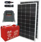 Kit Solare 200W 12V Mono con MPPT 20A Batteria Rolls 128Ah 3500 cicli #30200141