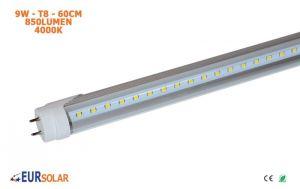 Tubo LED T8 60cm 9W 4000K Luce Naturale Trasparente 850Lumen #27560108