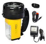 Torcia a LED - Batteria 6V 4Ah - Luce Bianca Super Luminosa - Codice: 25500150