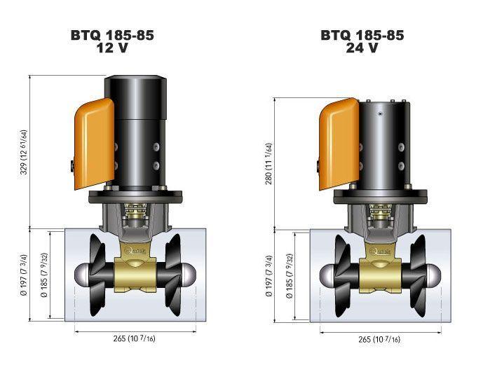 Quick BTQ185-85 Thruster Kit 12V/24V 85Kgf Joystick Remote Control