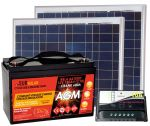 Kit Solare 12V 100W Poly (2x50W) + Batteria AGM 100Ah + Regolatore 10A #30200049