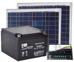 Kit Solare 12V 100W Poly (2x50W) + Batteria AGM 24Ah +Regolatore PWM 10A 30200069