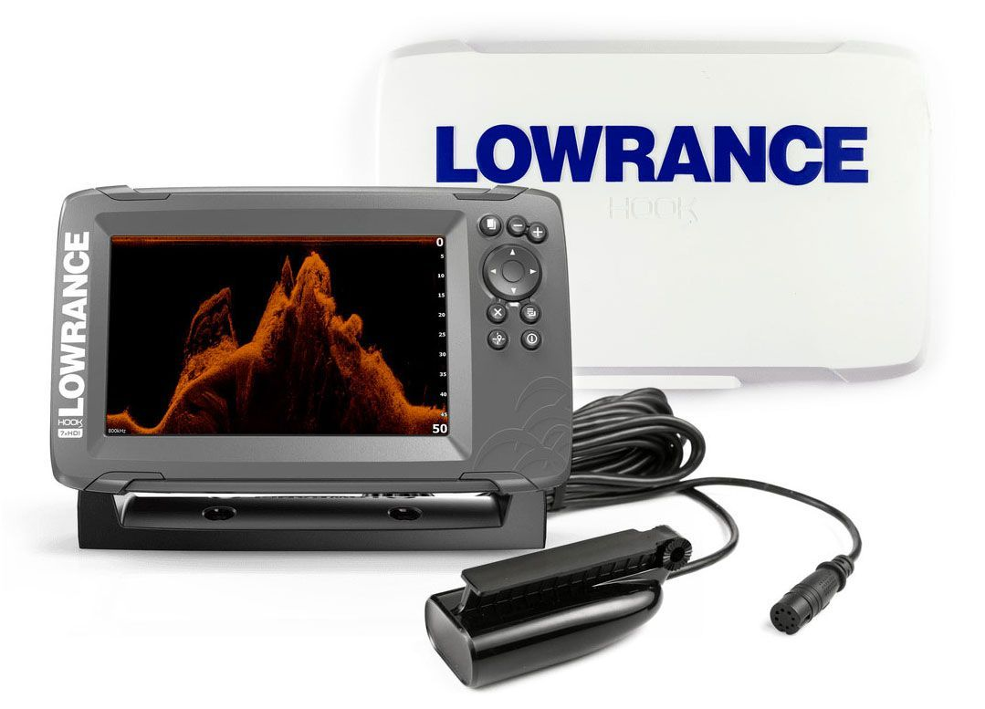 Kit Lowrance Hook2-7x Fishfinder/GPS SplitShot Skimmer + Sun