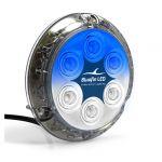 Faro a Sommersione Piranha P12 SM Dual 12/24V 55W a LED Blu e Bianco #26001279