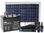 Kit Pannello Solare 12V 50W + Regolatore 10A + Batteria 24Ah + Connettori MC4 #30200085