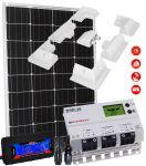 Kit Solare Camper 12V 110W Mono Regolatore 20A MC4 Misuratore Supporto #30200178SF