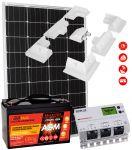 Kit Solare Camper 110W 12V Batteria 100Ah Regolatore 20A Supporto #30200179SF