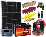 KIT Solare 12V 100W Mono con Batteria AGM 100Ah completo degli accessori elettrici #30200180