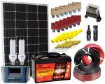 Kit Solare 12V 100W Mono Regolatore 15A Batteria AGM 100Ah CFL 15W Accessori Elettrici #30200180CFL