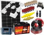 Kit Solare Camper 12V 100W Mono Regolatore 15A Batteria AGM 100Ah Accessori Elettrici Supporto Speciale #30200180SF