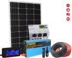 Kit Solare 12V 110W Mono Regolatore 20A Inverter 1000W Connettori MC4 Misuratore Cavi #30200182