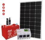 Kit Solare 12V 110W Mono con MPPT 20A Batteria Rolls 128Ah 3500 cicli #30200184