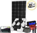 Kit Solare Camper 12V 180W Mono con Regolatore 10A Connettori MC4 Misuratore Cavi Supporto #30201180SF