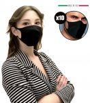Mascherine Filtranti Nere per Adulti EMFA5 Riutilizzabili Lavabili 10PZ #N90056004591