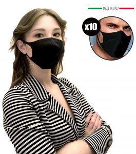 EMFA5 Black Filter Masks for Adults Reusable Washable 10PCS #N90056004591