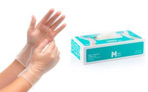 Guanti in Vinile Monouso Taglia M Categoria I Resistenti Senza polvere 100pz #N71547617572