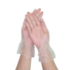 Disposable Transparent PVC Gloves Size L 100Pcs Powder-free #N71547617575